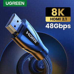 Ugreen HDMI 2.1 Cable 48Gbps 8K@60Hz 4K@120Hz PS5 Xbox Nvidia RTX AMD - 1m 2m 3m