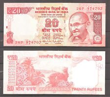 INDIA - BILLETE DE 20 RUPIAS 2015  M. GANDHI      SC  UNC