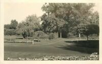 Ellis 1940s Walla Walla Washington Pioneer Park RPPC real photo postcard 372