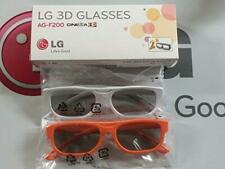 GENUINE LG PASSIVE 3D GLASSES - 4 Pack NEW ag-f200 NEW in box 2 orange 2 white