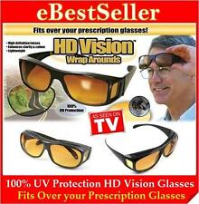 special 2 Pair AS SEEN TV HD Wrap Around Night Vision Driving Glasses