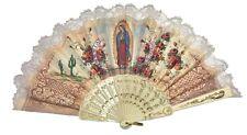 Hand fans Abanico de Mano con Virgen De Guadalupe Spirituality