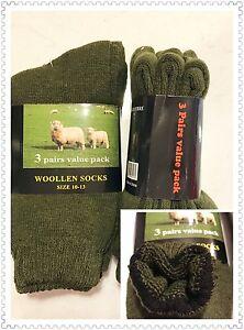 Winter Must Have 6pairs Men Woman Wool Woollen Socks Super Warm Work Boot 10-13