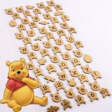 DISNEY WINNIE THE POOH LETTER STICKERS Personalised Name Wall Door Gold Decal