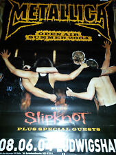Rare Metallica Slipknot Tour 2004 Konzert Plakat Concert Callejon Poster 84cm
