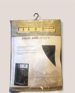 Cabelas Tech Silk Base Layer Mens SZ XL Black Pants Maximum Thermal Protection