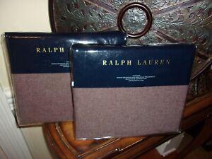 NIP Ralph Lauren Great Compton Riverport Purple 100% Wool King Shams