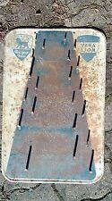 ancienne plaque PEUGEOT porte outis,GARAGE,loft,usine,vintage,no émaillée