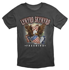 Lynyrd Skynyrd Freebird America Southern Rock T Shirt Black
