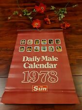 More details for 1978 the sun daily male calendar *rick parfitt, gerry francis, lee majors* ☆wow☆