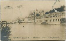 1911 Torino Esposizione Mostra Germania Ponte Palazzo Ferrovia FP B/N VG ANIM