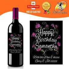 Bouteille De Vin étiquette amitié Occasion Cadeau Drôle collègue Bureau #1045