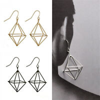 1Pair Punk Party Dreieck-Ohrringe Ohrstecker Schmuck Geometrie-Muster