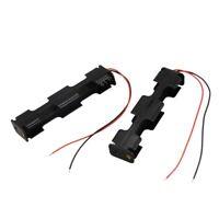 2 pz di plastica nera del doppio strato 4 x AA 6V custodia della batteria c H3K0