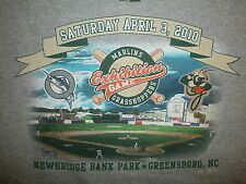 GREENSBORO GRASSHOPPERS SHIRT Miami Marlin Minor League Baseball Exhibition Game