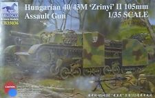 """Bronco cb35036 Hungarian 40/43m """"Zrinyi"""" II 105mm Assault Gun en 1:35"""
