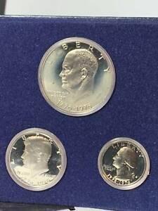 Proof Set Silver Clad 3 piece  1976 S Bi Centennial