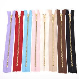 10X 20CM Japan YKK Gold Tooth Metal Zipper DIY for Bag Patchwork Accessories SFY