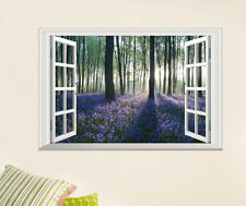 Large Removable Lavender Forest Wall Decal 3D Window Scene View Home Sticker