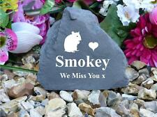 Pet Memorial Rock - Small (Stone effect) Personalised - Weatherproof - Hamster