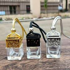 Car Air Freshener Diffuser Scent ornament Hanging Empty Perfume Bottle Black AUS