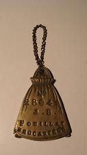 Plaque de métier brocanteur en bronze Fouillat JB