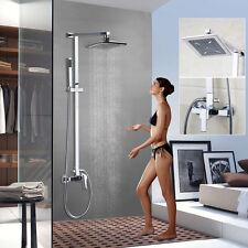 Bath Rain Shower Faucet Tub Mixer Tap 1 Handles Chrome Hand Shower