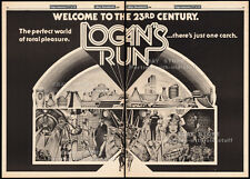 LOGAN'S RUN__Original 1976 Trade Print AD / poster__movie promo__FARRAH FAWCETT