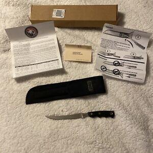 """KNIVES OF ALASKA MODEL #440-C """"STEELHEADER"""" FILLET KNIFE W/SHEATH NEW"""