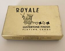 Vintage Playing Cards Royale Lustertone Finish Deck