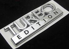 Turbo Edición Cromo Insignia Emblema Nuevo Opel Saab Vw Audi Peugeot etc.