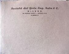 SOCIETA DEL GRES ING SALA & C Catalogo dei prodotti Tecnica Edilizia Materiali