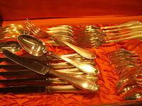 Besteck GRAVURISI 90 er Silber 6 Personen 30 Teile mit Besteckkoffer