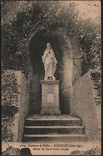 NOINTOT prés BOLBEC (76) VIERGE , STATUE du SACRE-COEUR en 1923