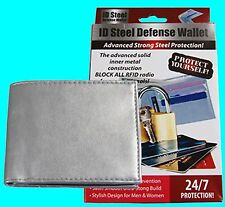 Premier Steel ID Defense Wallet Protect Identity With RFID Protection