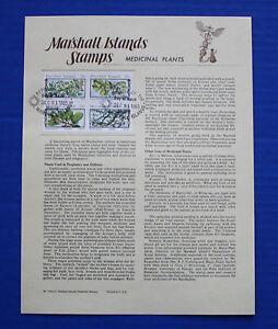 Marshall Islands (94a) 1985 Medicinal Plants Souvenir Page