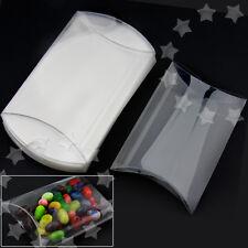 25pcs Plastic Candy Box PVC Pillow Style Chocolate Sweet Wedding Party Favor Box