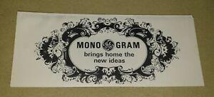Vintage 1960s Sales Advertising Leaflet,  General Electric's Monogram Housewares