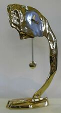 David marshall horloge sculpture surréaliste abstrait design moderne dali gilded bronze