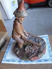 "Tom Clark Figurine Cairn Hitch Gnome Figurine Ed 78 Signed w Box & Coa 8"" Tall"