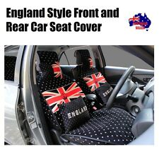 England Style Fabric Velvet Car Front and Rear Seat Cover