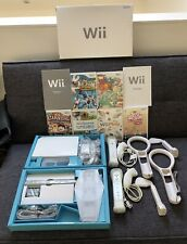 Nintendo Wii Console -Wii sports & 5 Other Games, 2 Controllers/Nunchucks. Boxed
