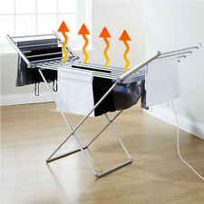 Electric Heated Clothes Airer Dryer imdoor Horse Rack Laundry Folding Washing