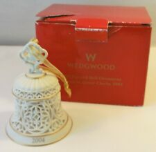 Wedgwood Christmas Pierced Bell Ornament 2004 in Red Box