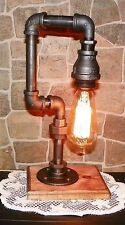 Handcrafted Industrial Pipe style Lamp with edison bulb, Light assembled in USA
