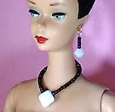 Barbie Dreamz WHITE SQUARE and BLACK Choker Set Silkstone OOAK Doll Jewelry