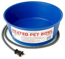 Pet Bowl Farm Innovators Model Economical Gallon Round Heated Blue Travel Dog