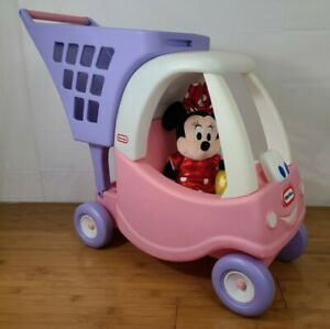 Little Tikes Cozy Shopping Cart Pink/purple USED