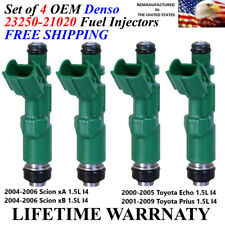 Genuine Toyota Set Of 4 Fuel Injectors for Toyota Prius Echo Scion XA XB 1.5L