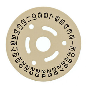 DATE DISC FOR ROLEX 2030-2035 MOVEMENT CHAMPAGNE YELLOW WATCH PART